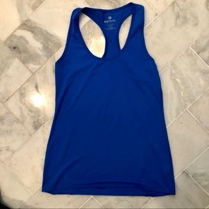 90 degrees royal blue racer back workout tank top